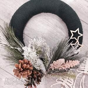 oryginalne prezenty, sznurkowelove wianek na drzwi, świąteczny