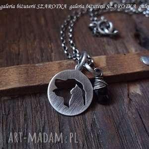 ręcznie robione naszyjniki for a pet lover minimalistyczny naszyjnik z czarnego spinelu i srebra
