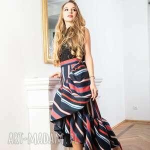 Asymertyczna spódnica w pasy jakarta spódnice my image art