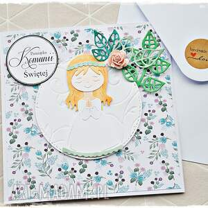 kartka na komunię świętą dla dziewczynki, kartka, komunia, pamiątka komunii