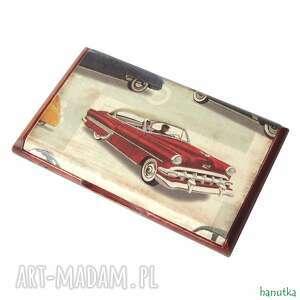 etui stylowe auta - wizytownik, prezent, auto, samochód, vintage, męski