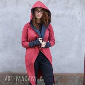 Płaszcz Asmi z kapturem , długa-bluza, z-kapturem, na-zamek, płaszcz, ciepła,