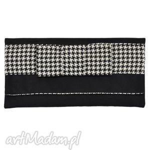 hand-made 03 -0021 czarna torebka kopertówka wieczorowa do ręki crow