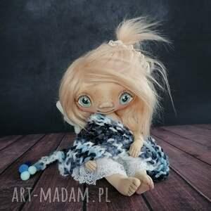 e piet szkrab - lalka kolekcjonerska figurka tekstylna ręcznie szyta