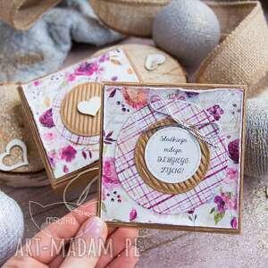 urocze pudełeczko z mini kartką wewnątrz na każdą okazję dla niej, niego
