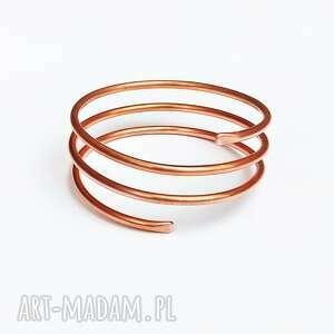 Silnie energetyzująca bransoleta z miedzi męska langner design