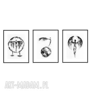 mythus, komplet 3 plakatów autorskich 30/40 cm, plakat, autorski, grafika