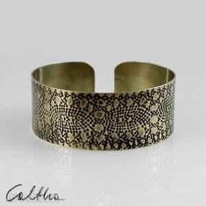 mosiężna bransoleta - koronka 141113-03, bransoletka, bransoleta