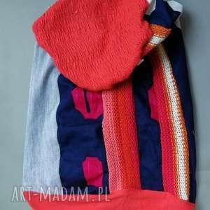 handmade czapki czapka patchwork smerfetka dresowa dzianina etno