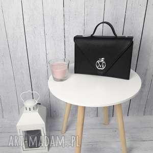 sztywna torebka/teczka manzana klasyczna- czarna, torebka, torebki, damska