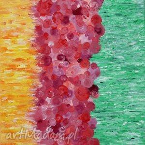 miłość, abstrakcja, prezent, obraz, radość, zieleń