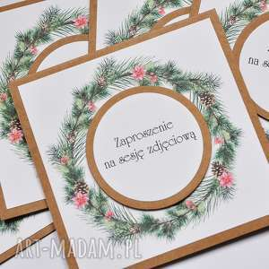 świąteczne zaproszenia na sesje zdjęciowe, zaproszenie, sesja