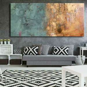 ręcznie robione dekoracje bardzo duży obraz do salonu z rzeżbą