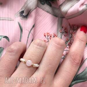 pierścionek - morganit różowy, morganit, pierścionek, biżuteria, kamienie