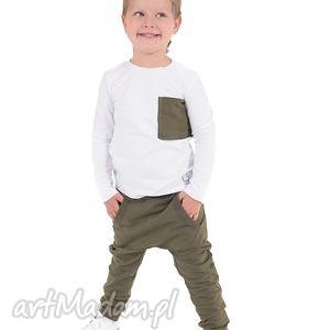 Spodnie khaki z kieszonką , bawełna, khaki, spodnie, jesień, handmade