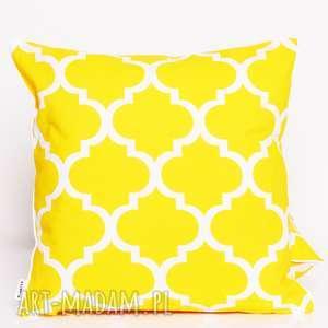 poduszki poduszka fresh yellow 40x40cm od majunto, koniczyna, marokański, 40x40
