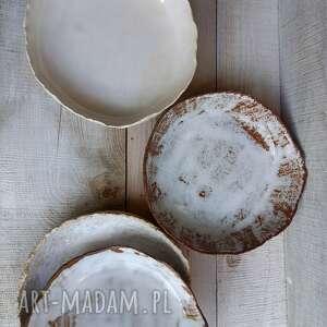ceramika zestaw półmisków z różnych glin wyjątkowe, półmisków