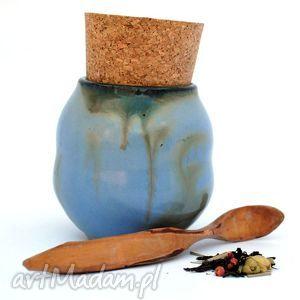 Ceramiczny pojemnik - Pojo IX nr154c , pojemnik, naczynie, ceramika, użytkowe