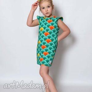honsiumisiu sukienka tęcza, kolorowa, lato, tęczowa, motylki dla dziecka