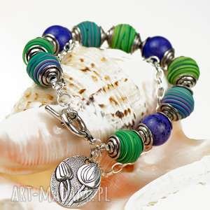 letnia kolorowa bransoletka z howlitów c505, bransoletka, biżuteria kamieni