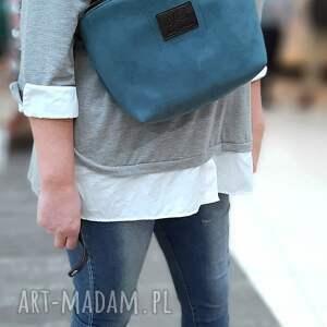 handmade nerki nerko-torba xl, kolor morski, gruby syntetyczny, nubuk, waterproof