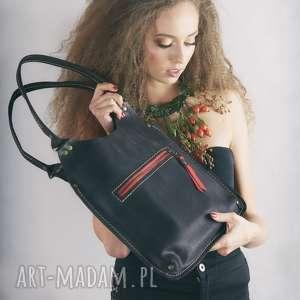ladybuq art studio torebka w kolorze czarny mat torba mała z naturalnej