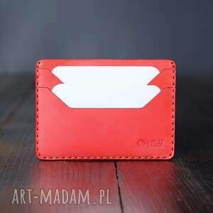 minimalistyczny portfel skórzany na karty, męski skórzany