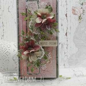 scrapbooking kartki najlepsze życzenia - kartka w pudełku 4, imieniny