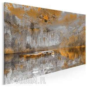 Obraz na płótnie - PEJZAŻ GÓRY POMARAŃCZOWY 120x80 cm (30702), pejzaż, krajobraz