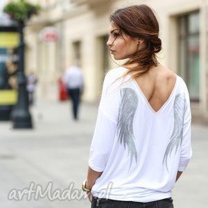 pod choinkę prezent, angel_wings white, skrzydła, bluzki, koszulki, malowane