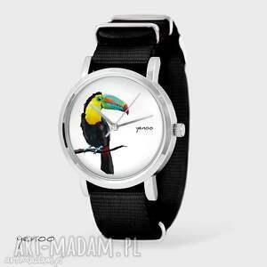 zegarki zegarek, bransoletka - tukan czarny, nato, bransoletka, nato