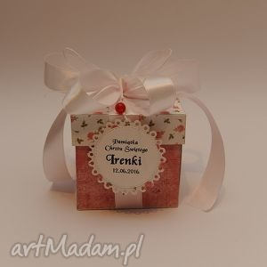 handmade scrapbooking kartki kartka pudełko box chrzest lub urodziny