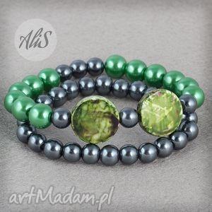 hand-made bransoletki zielona perełka