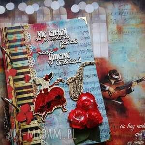 notes / /nie czekaj aż przestanie padać naucz się tańczyć, notes, pamiętnik