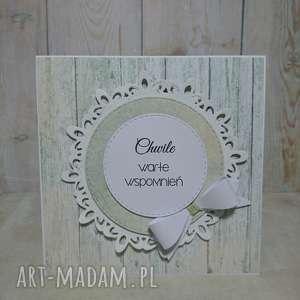 handmade scrapbooking kartki zaproszenie / kartka kokarddowy minimalizm