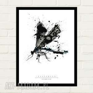 Dragonfly painted plakat 30x40 plakaty gau home minimalizm
