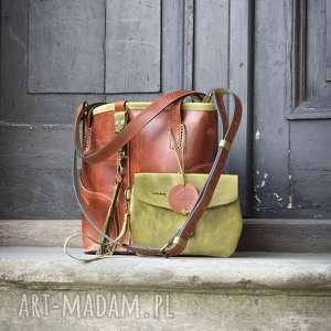 torba torebka skórzana ręcznie robiona z dobrej jakości skóry naturalnej paskiem