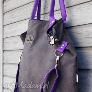 ręcznie zrobione na ramię torba worek mysza fiolet