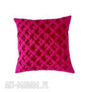 Poduszka ozdobna ciemny róż plecionka canadian origami poduszki