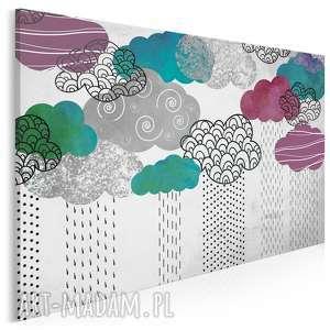 obraz na płótnie - chmury kolorowy 120x80 cm 51201, wzory, chmury, chmurki