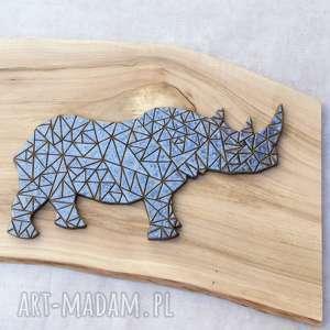 handmade ceramika dekor ceramiczny nosorożec