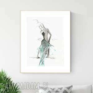 plakaty grafika 30x40 cm wykonana ręcznie, abstrakcja, obraz do salonu, 2644989