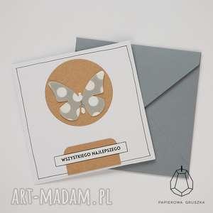 kartka z motylkiem, kartka, urodzinowa, życzenia, urodziny, motylek, dziecko