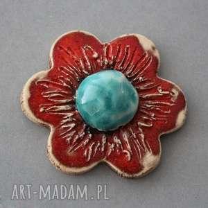 unikalny, kwiat-broszka ceramika, minimalizm, natura, pani, urodziny, prezent