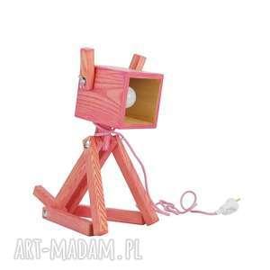 Lampka Puppy Pink 005, lampka, piesek, dziecko, dom, drewniana, ręcznie