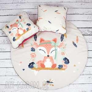 hand-made pokoik dziecka welurowa mata do zabawy oraz dwie poduszki bohemian friends