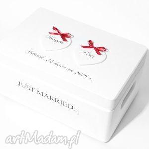 Ślubne pudełko na koperty Kopertówka Personalizowane Just married