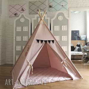 tipi sprytna przekorność - tipi, namiot, róż, proporczyki, pokój