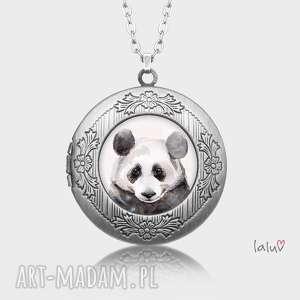 świąteczny prezent, sekretnik panda, bambus, puszysta, czarno, biała, słodka