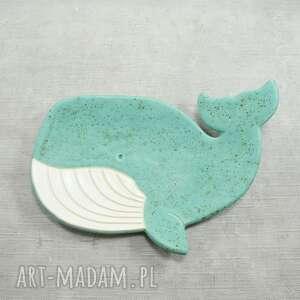 ceramika mydelniczka wieloryb, mydelniczka, morskie, łazienka